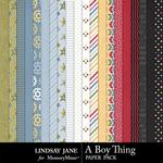 A Boy Thing Paper Pack-$2.49 (Lindsay Jane)