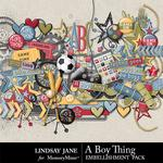 A Boy Thing Embellishment Pack-$3.49 (Lindsay Jane)