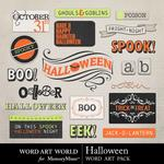 Halloween word art and alpha small