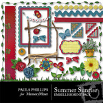 Summer Sunrise Embellishment Pack-$2.99 (Paula Phillips)