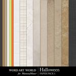 Halloween WAW Paper Pack 1-$3.99 (Word Art World)