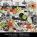Halloween WAW Embellishment Pack-$3.49 (Word Art World)