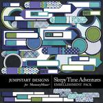 Sleepy Time Adventures Journal Bits-$1.75 (Jumpstart Designs)