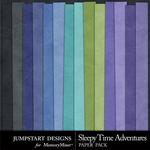Sleepy Time Adventures Solid Paper Pack-$2.45 (Jumpstart Designs)