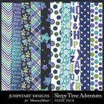 Sleepy Time Adventures Patterned Paper Pack-$3.49 (Jumpstart Designs)