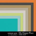 My Happy Place Embossed Paper Pack-$1.99 (Lindsay Jane)
