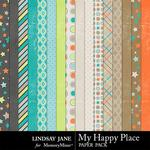 My Happy Place Paper Pack-$2.49 (Lindsay Jane)