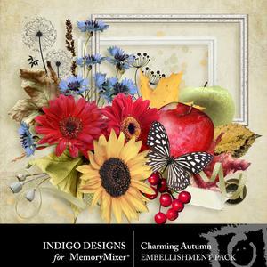 Charmingautumn embellishments medium