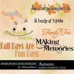 Autumn LB WordArt Pack-$2.49 (Laura Burger)