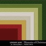 Memories of Christmas Embossed Paper Pack-$1.99 (Lindsay Jane)