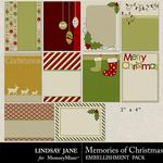 Memories of Christmas Journal Cards-$1.99 (Lindsay Jane)