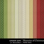 Memories of Christmas Pattern Paper Pack-$1.99 (Lindsay Jane)
