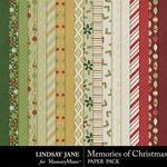 Memories of Christmas Paper Pack-$2.49 (Lindsay Jane)
