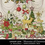 Memories of Christmas Embellishment Pack-$3.49 (Lindsay Jane)