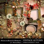 Vintage Autumn Cluster Pack-$1.99 (MagicalReality Designs)