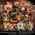 Vintage Autumn Embellishment Pack-$1.75 (MagicalReality Designs)