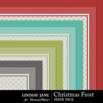 Christmas Frost Embossed Paper Pack-$1.99 (Lindsay Jane)