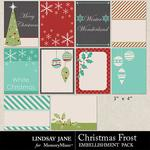 Christmas Frost Journal Cards-$1.99 (Lindsay Jane)