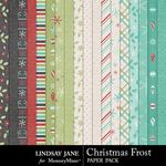 Christmas Frost Paper Pack-$2.99 (Lindsay Jane)