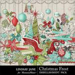 Christmas Frost Embellishment Pack-$3.49 (Lindsay Jane)