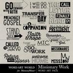 Missionary Work WordArt Pack-$2.49 (Word Art World)