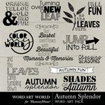 Autumn Splendor WordArt Pack-$2.49 (Word Art World)