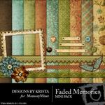 Faded Memories Mini Pack-$3.99 (Designs by Krista)