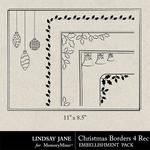 Christmas Borders 4 Landscape-$1.40 (Lindsay Jane)
