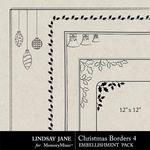 Christmas Borders 4 Square-$1.99 (Lindsay Jane)