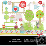 Little Bunny Foo Foo Embellishment Pack-$3.00 (Amy Sumrall)