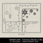 Christmas Borders 2 Landscape-$1.99 (Lindsay Jane)