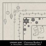 Christmas Borders 2 Square-$1.99 (Lindsay Jane)