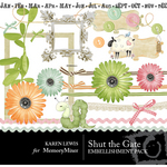 Shut The Gate Embellishment Pack-$3.50 (Karen Lewis)