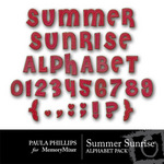 Summer Sunrise Alphabet Pack-$0.50 (Paula Phillips)