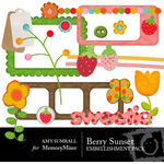 Berry Sweet Embellisment Pack-$3.00 (Amy Sumrall)