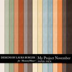 My Project November Solid Paper Pack-$3.49 (Laura Burger)