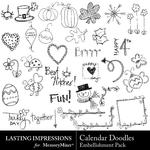 Calendar Doodles Embellishment Pack-$1.49 (Lasting Impressions)
