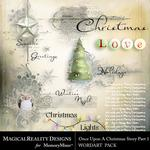 Upon a Christmas 1 WordArt Pack-$2.49 (MagicalReality Designs)