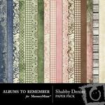 Shabby Denim Paper Pack-$3.99 (Albums to Remember)
