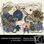Shabby Denim Embellishment Pack-$3.99 (Albums to Remember)