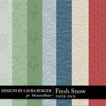 Fresh Snow Embossed Paper Pack-$3.49 (Laura Burger)