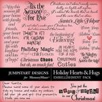 Holiday Hearts and Hugs WordArt Pack-$3.99 (Jumpstart Designs)