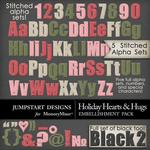 Holiday Hearts and Hugs Alphabet Pack-$4.99 (Jumpstart Designs)