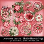 Holiday Hearts and Hugs Bloom Stacks Pack-$2.49 (Jumpstart Designs)