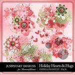 Holiday Hearts and Hugs Splatters Pack-$2.49 (Jumpstart Designs)