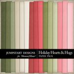 Holiday Hearts and Hugs Plain Paper Pack-$2.99 (Jumpstart Designs)