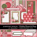 Holiday Hearts and Hugs Journal Bits-$2.99 (Jumpstart Designs)