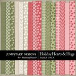 Holiday Hearts and Hugs Basics Paper Pack-$3.49 (Jumpstart Designs)