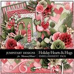 Holiday Hearts and Hugs Add On Embellishment Pack-$2.99 (Jumpstart Designs)