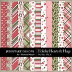Holiday Hearts and Hugs Pattern Paper Pack-$3.49 (Jumpstart Designs)